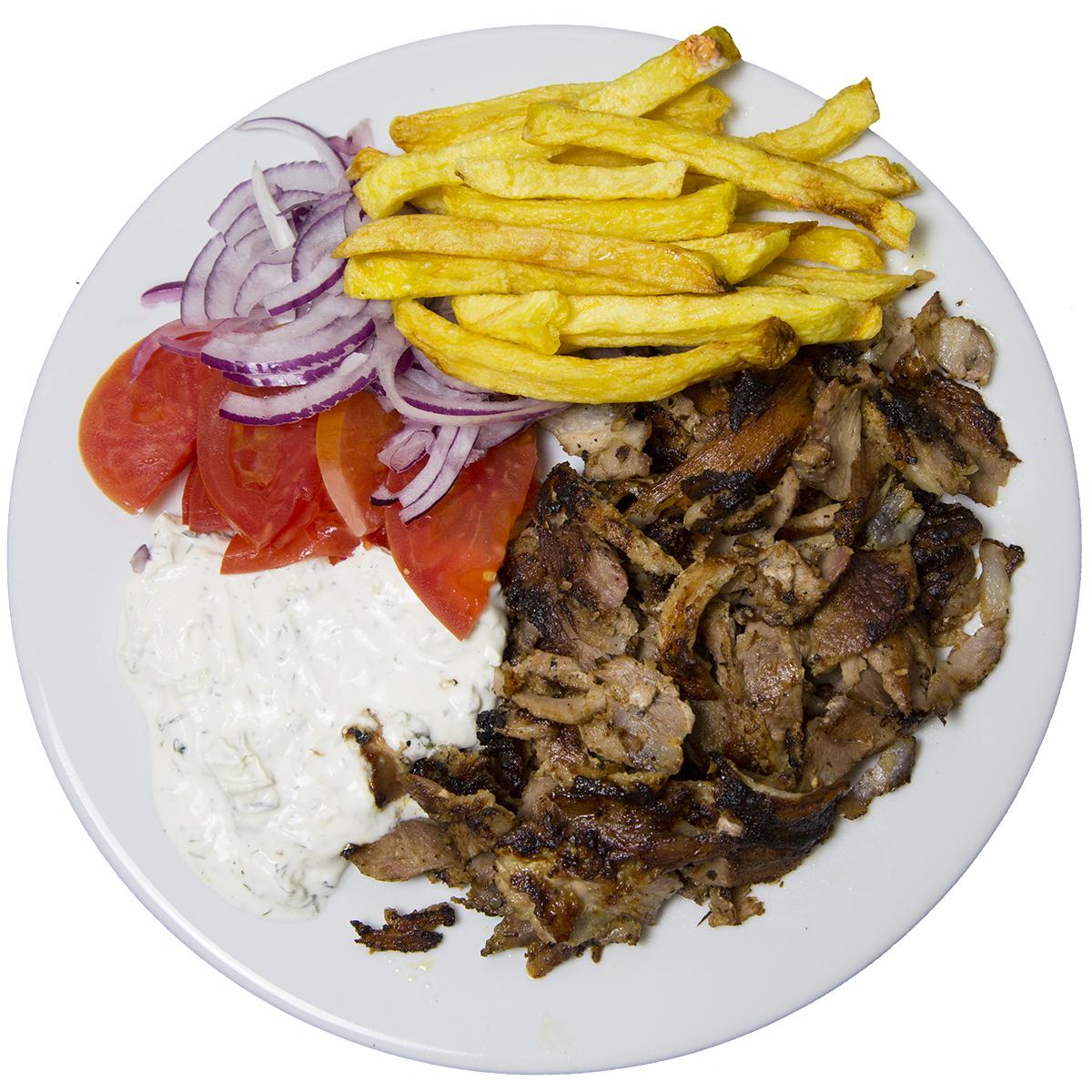 Svinjski_giros_porcija